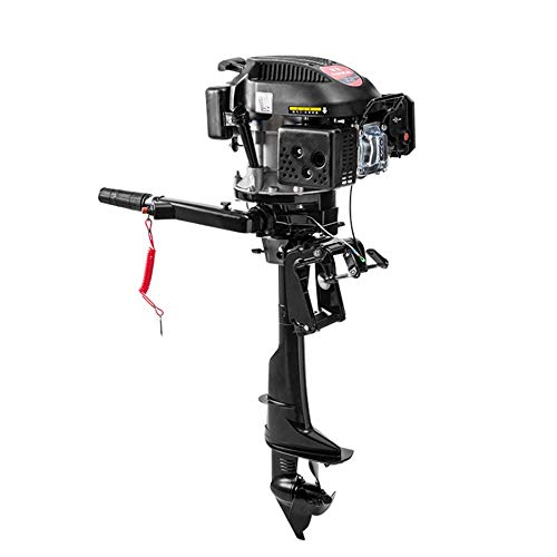 Review Of Gdrasuya10 4 Stroke 6HP Outboard Petrol Engine Motor Inflatable Fishing Boat Machine Kayak...