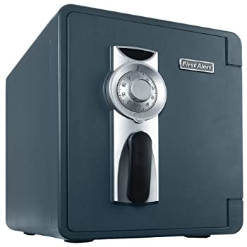 First Alert 2087F Waterproof and Fire-Resistant Bolt-Down Combination Safe 0.94 Cubic Feet