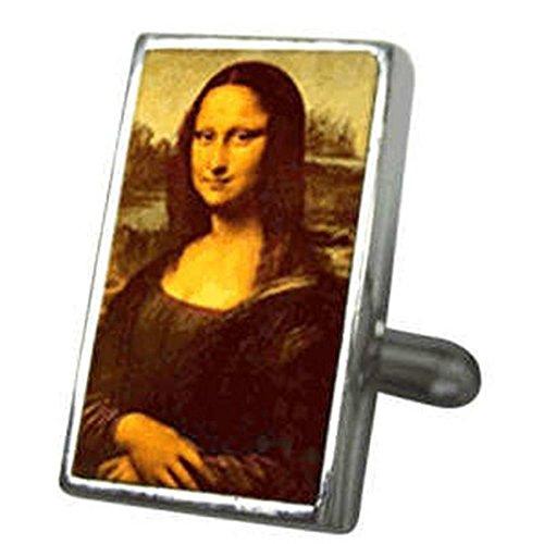 Boutons de manchettes Boutons de manchette Art~Mona Lisa Smile lenticulaire animé de manchette Tilt pour voir Sélectionner Pochette Cadeau