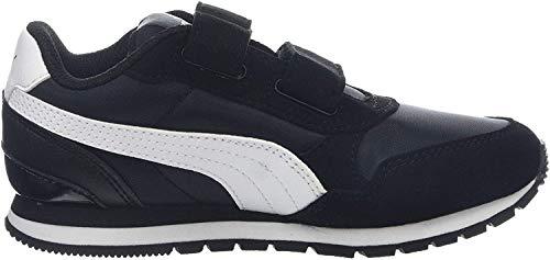 Puma Unisex-Kinder St Runner V2 Nl V Ps Sneaker, Black White, 28 EU