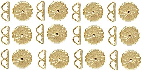12 Pcs Lowest price challenge Premium Swirl Large Gold Ranking TOP20 Earring Stamped Backs. Filled 1