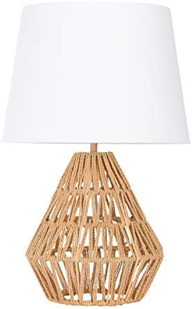 Creative Co op Diamond Shaped Rope Empire Shade Table Lamp Natural product image