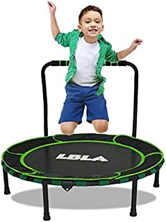 LBLA Kids Indoor and Outdoor Trampoline with Adjustable Handel and Safety Padded Cover for Family and Kindergarten, Standa...