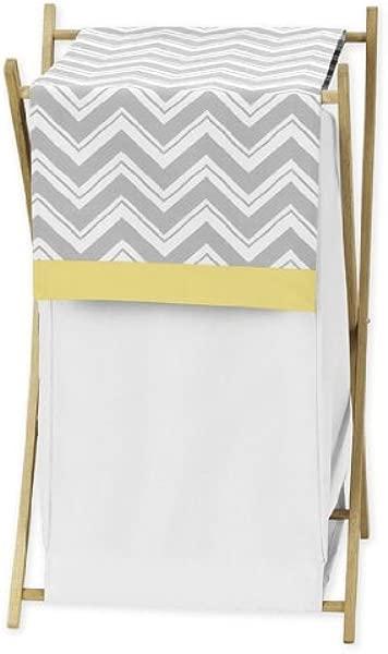 甜美 Jojo 设计婴儿儿童衣物洗衣篮黄色和灰色雪佛龙之字形床上用品