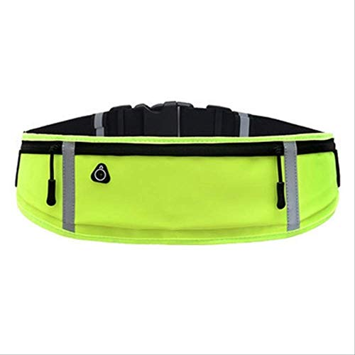ZHUODIN Waterproof Running Waist Bag Outdoor Phone Holder Belt Bag Anti-Theft Container Reflective Belt Pack Non-Slip Gym Sports Bag