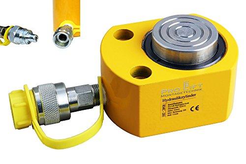 L/änge 207mm RSC min 00071 Pro-Lift-Montagetechnik 30t Hydraulikzylinder Hub 100mm