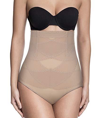 SLIMBELLE Culotte Gainante Amincissante Culotte Sculptante Ventre Plat Taille Haute Femme Panty Minceur-Beige-L