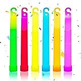 Youmine Paquete de 25 Palos Luminosos para Fiestas Que Brillan en la Oscuridad, Regalos para Fiestas, Collares Luminosos, Suministros para Fiestas y Decoraciones de Halloween