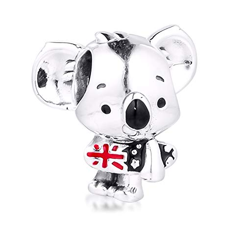 BAKCCI Abalorio de Koala de verano de 2020, plata 925, compatible con pulseras Pandora originales
