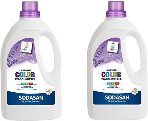 Sodasan Bio Color Waschmittel Lavendel (2 x 1,50 l)