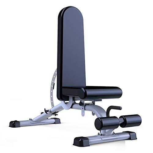Hantelbänke Kommerzielle Fitness Stuhl Indoor Erwachsene Sit-ups Multi-Fitnessgeräte Tragender 300KG 11-Gang-Höhenverstellung (Color : Black, Size : 152 * 46 * 119cm)