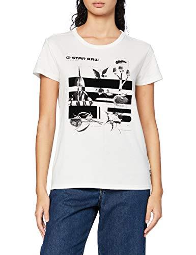 G-STAR RAW Logo Thistle Graphic Gyre Straight Camiseta, Milk 336-111, S para Mujer