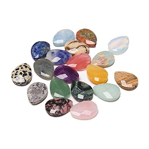 LULIJP Dekorative Steine 30 stücke 13x18mm natürliche facettierte kristall Agate amazonit Lazuli wassertropfen lose Spacer perlen Machen Armband