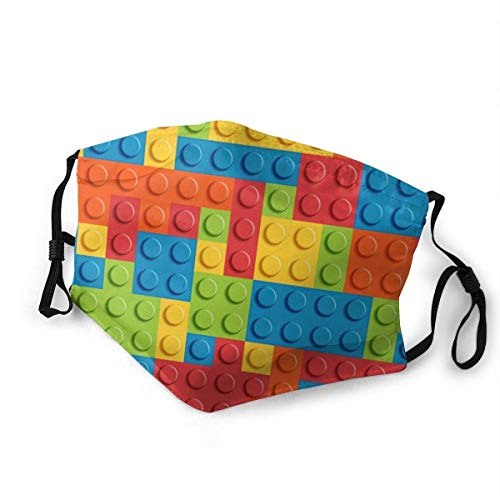 Lego Bricks Unisex Earloop Dust-proof Face Cover Balaclava Mouth Cover Washable Reusable Filter