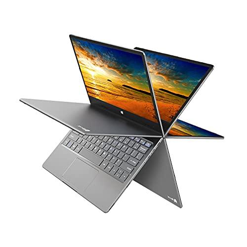 "BMAX Y11 2 in 1 Laptop, Touchscreen 11.6"" FHD (1920 x 1080) Display, 360 Degree Convertible, Intel N4120 Processor, 8GB LPDDR4, 256GB SATA SSD, Windows 10, Type-C, HDMI, All-Metal Body"