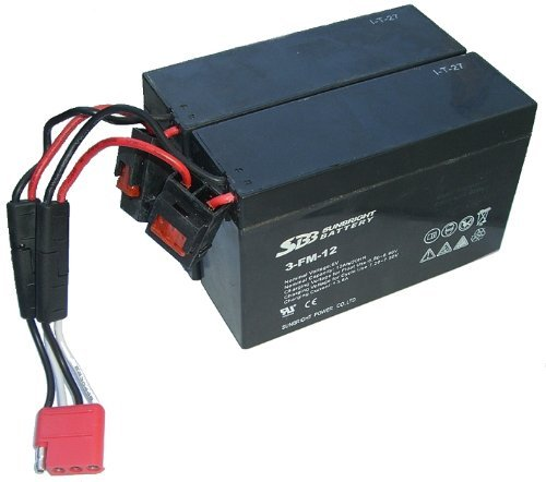 crooza AKKU-Set 2X 6V-12Ah - 2 Stück 6V-12Ah Batterie 4x4 ALLRAD Jeep oder 4x4 ALLRAD Quad ohne Adapterkabel