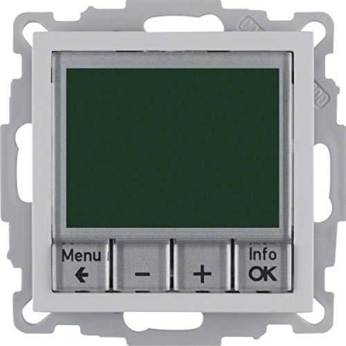 Berker Temperaturregler alu matt 20441404 mit Schließer B.3;B.7;HLK-REGELUNG;S.1 Raumthermostat 4011334354666