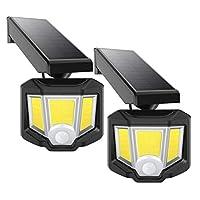 LEDソーラーライト屋外調節可能防水ワイヤレスPIRモーションセンサーセキュリティライト360°回転ヘッドセキュリティライトフロントドアヤードガレージデッキ用