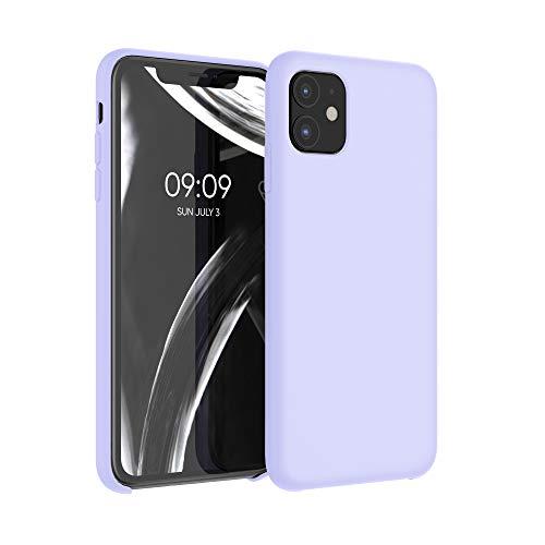 kwmobile Hülle kompatibel mit Apple iPhone 11 - Hülle Handyhülle gummiert - Handy Hülle in Pastell Lavendel