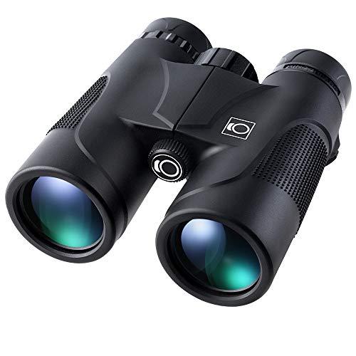 K&F Concept Prismáticos 10x42 Binoculares Profesionales Impermeable y Ligero con Correa y Funda, Prismas BaK4 y FMC con Gran Alcance para Niños Adultos para Observación de Aves Senderismo Astronomía
