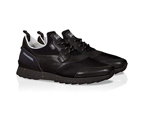 HOGAN REBEL Luxury Fashion Mens Sneakers Spring Black