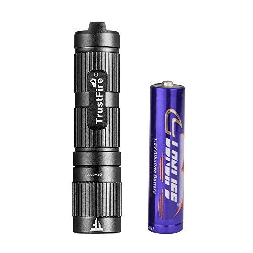 TrustFire Mini3 Mini Led Taschenlampe mit Schlüßelanhänger 100 Lumen mit 1,5V Alkaline AAA Batterie