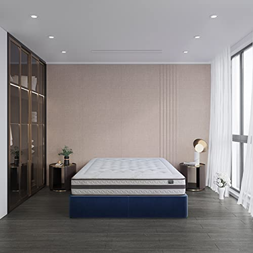Kuo Dream ECO NATUR - Colchón de Muelles Ensacados, acolchado natural de algodón y tejido bamboo, refuerzo lumbar de latex, 160 x 200 cm, color beige