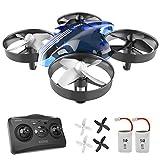 ATOYX AT-66 Drone Enfant Hélicoptère Télécommandé Quadcopter avec Mode sans Tête Avion Mini avec Télécommande Jouet Cadeau pour Enfant et Débutant - Bleu