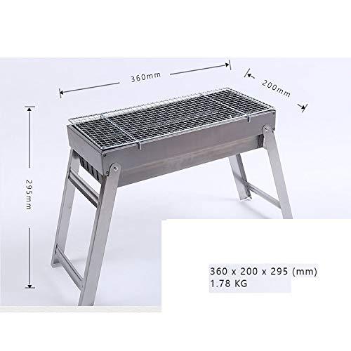 GL-outdoor Juego de Parrilla Plegable de carbón, Parrilla portátil de Acero Inoxidable...