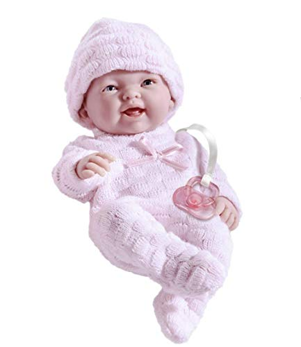 Mini La Newborn Boutique - Realistic 9.5' Anatomically Correct Real Girl Baby Doll dressed in PINK – All Vinyl Designed by Berenguer