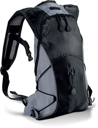 Ultraleichter Hydra Sport Rucksack in Kontrastfarben, Farbe:Black/Slate Grey;Größe:31 x 21 x 8 cm 31 x 21 x 8 cm,schwarz/grau