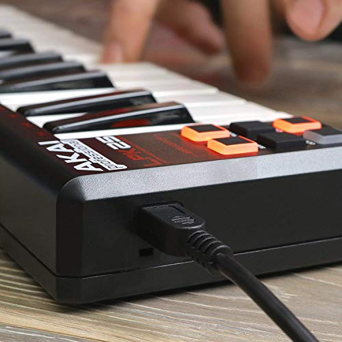 Akai Professional LPK25 | 25 Key Portable USB MIDI Keyboard Controller for Laptops (Mac & PC)
