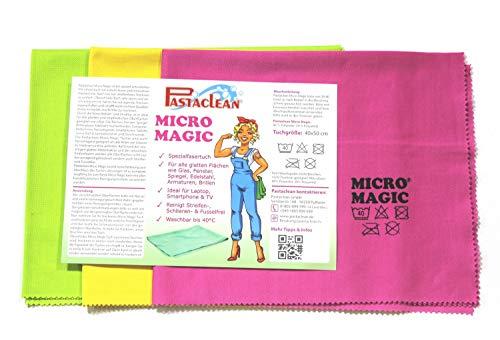 Pastaclean Micro Magic Spezialfasertuch 3er Set für glatte Oberflächen