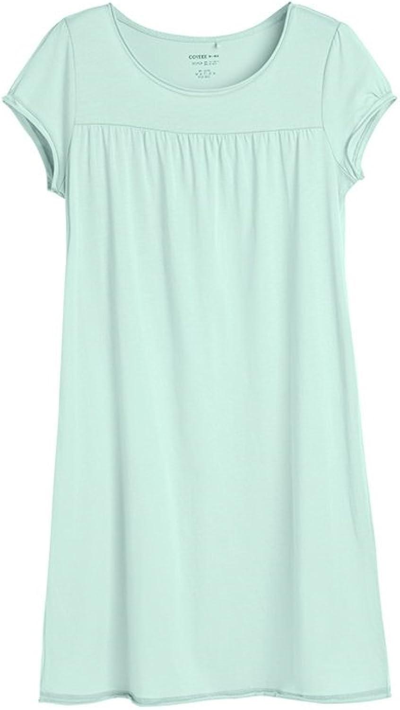 HFDSTRH GHRHA Cotton Round Neck Short Sleeve Nightdress Habitat Home Service Ms. Comfortable Pajamas