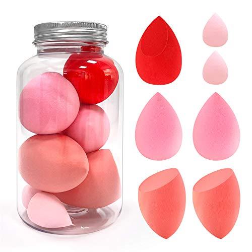 Esponja Maquillaje, PTN Essential 7 Piezas Set de Esponjas de Maquillaje, Sin Látex Facial Makeup Esponjas, Varias formas de Huevos de Maquillaje Adecuado para Crema Facial, Base, Corrector, Rubor
