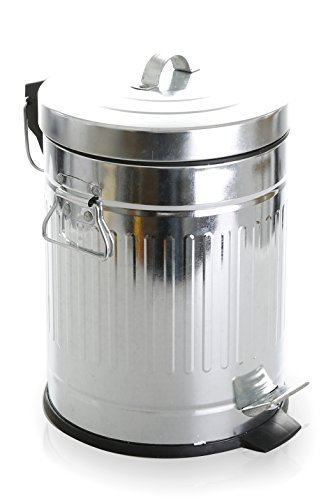 tin garbage can with lid - 9