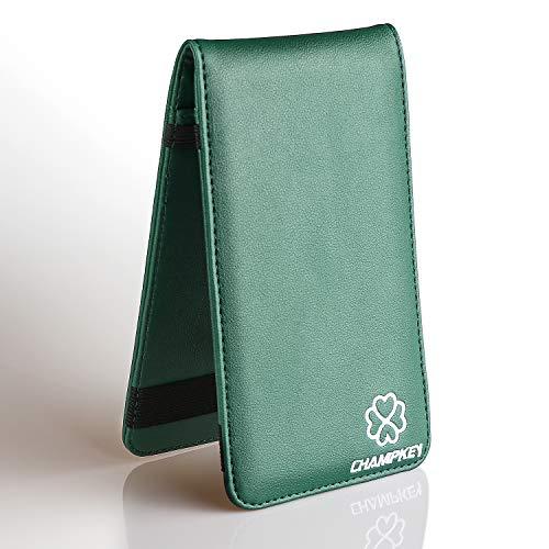 Champkey Pure Handmade Scorecard & Yardage Holder Cover (Clover-Green)