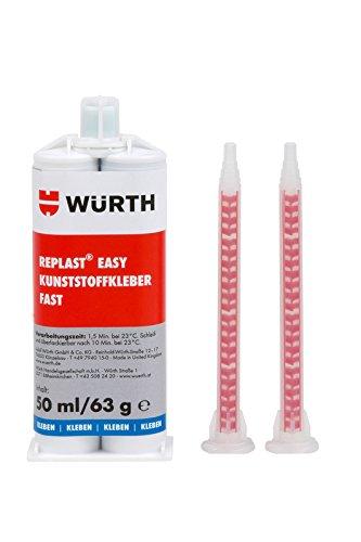 Wurth Replast Easy Kunststoff-Kleber, 50 ml