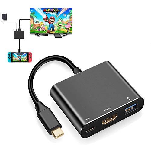 YCCTEAM USB Type C auf 1080P HDMI Adapter für Nintendo Switch, USB C Ladeanschluss HDMI Konverter Adapter für Nintendo Switch