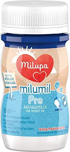 Milupa Milumil PRE, Anfangsmilch von Geburt an, Baby-Milchnahrung trinkfertig (24 x 90 ml)
