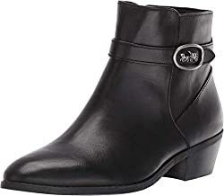 in budget affordable Coach Dylan Horse and Carriage Booties Black Leather 7