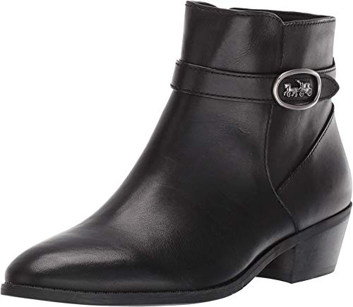 COACH Dylan Horse and Carriage Bootie Black Leather 6.5
