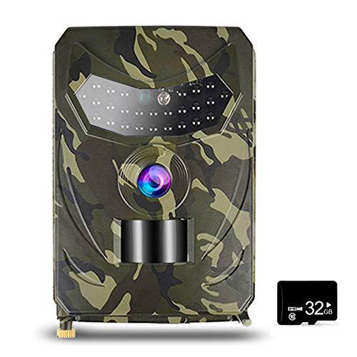Tidyard Caméra de Chasse de caméra de Piste 12MP 1080P avec Carte MicroSD de 32 Go Caméra de de la Faune en Plein air avec capteur PIR Vision Nocturne Infrarouge IP56 étanche