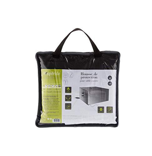 Housse de table carrée - 165 x 165 x 80 cm - Polyester - Gris