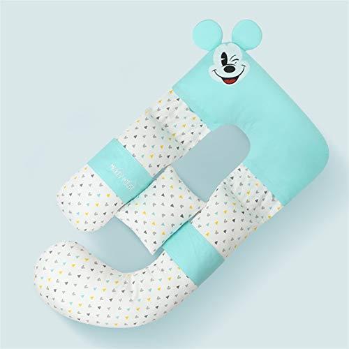 47-B Almohada lateral de cintura para dormir, almohada en forma de U, almohada para embarazo, almohada lateral (color azul claro)