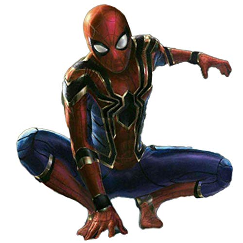 XINFUKL Vengeance Spiderman Traje Cosplay Medias Iron Spiderman Impresión 3D,Red-S(150-160cm)