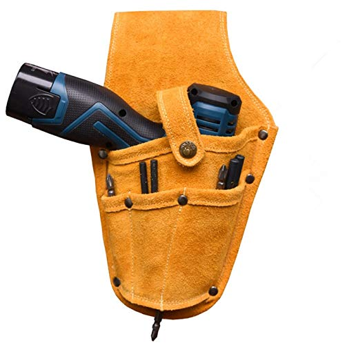 DQL Cordless Drill Holster, Durable Electrician Pouch Belt-Clip Bag
