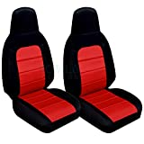 Totally Covers Compatible with 2006-2015 Mazda MX-5 Miata Seat Covers: Black and Red (22 Colors) Seat Belt Holder & Side Airbag Compatible Bucket