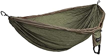 ENO, Eagles Nest Outfitters Double Deluxe Lightweight Camping Hammock, 1 to 2 Person, Khaki/Olive