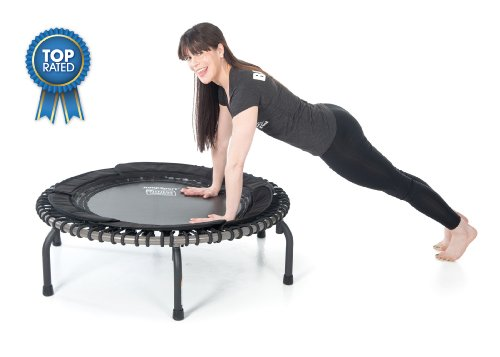 JumpSport 570 PRO | Fitness Trampoline | Professionals' Choice | Extra Large Surface for More Freedom | Non-Tipping Wide Arched Legs | Top Rated Quality, Safety & Durability | Includes 4 Workout DVD